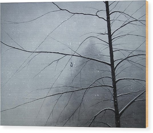 Loneliness Wood Print