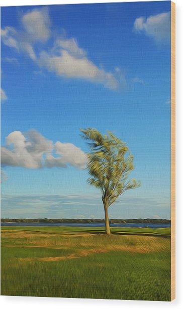 Lonely Tree. Wood Print
