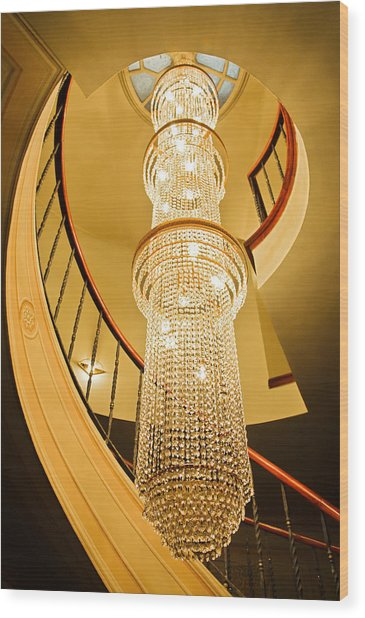 Long chandelier lights up the wall photograph by kantilal patel long chandelier lights up the wall wood print by kantilal patel aloadofball Image collections