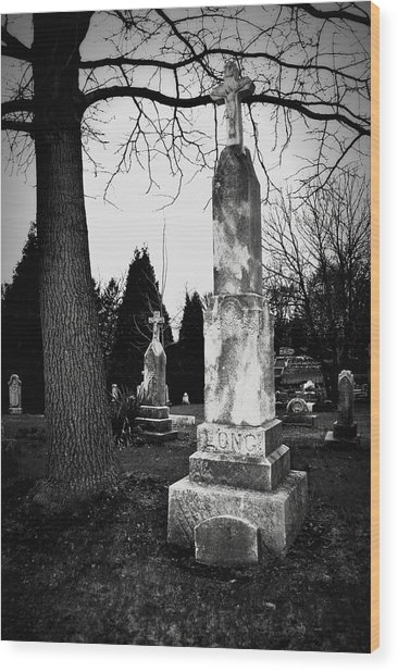 Long Grave Wood Print