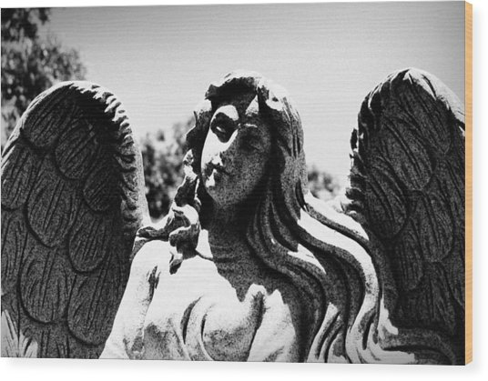 Long Haired Angel Wood Print
