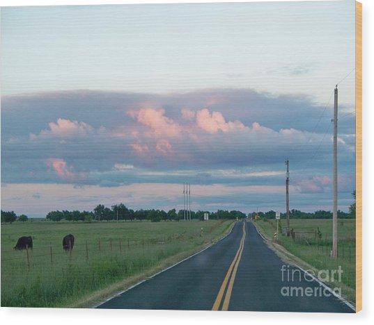 Long Road Home Wood Print