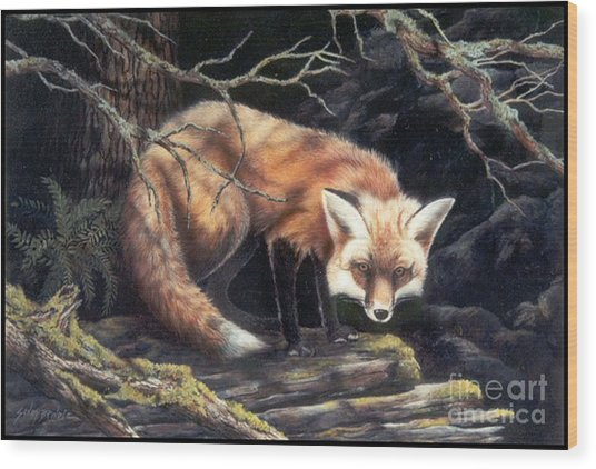Looking For Lunch   Sold Wood Print