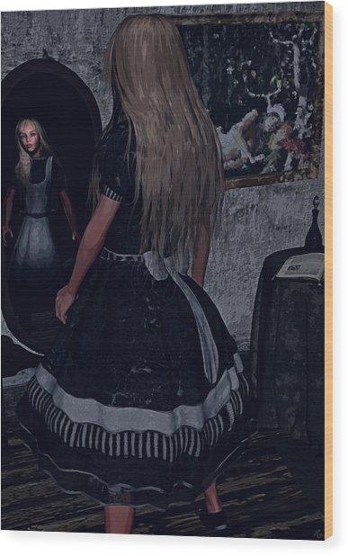 Looking Glass Alice Wood Print