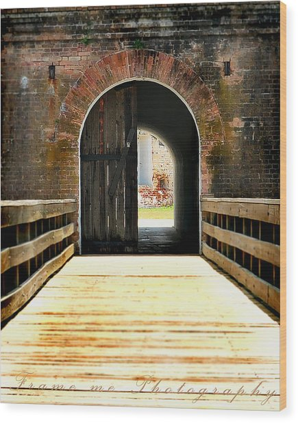 Looking Through Wood Print by Vanessa Benson