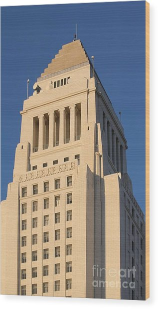 Los Angeles City Hall Wood Print