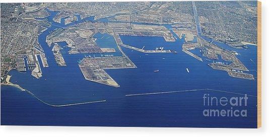 Los Angeles Seaport Panorama Wood Print