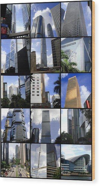 Lost In Hong Kong Wood Print