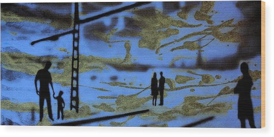 Lost In Translation - Serigrafia Arte Urbano Wood Print by Arte Venezia