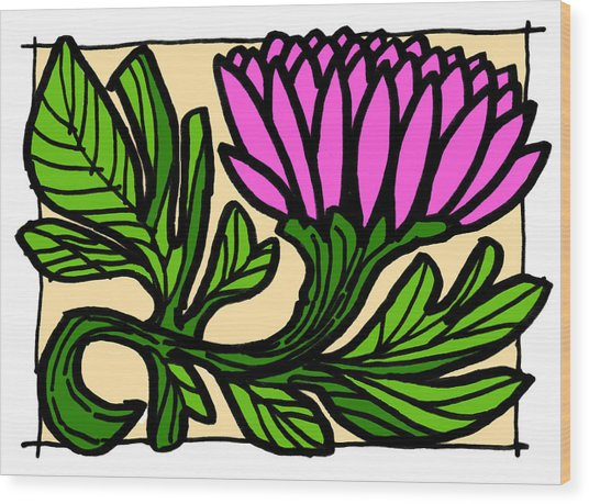 Lotus Power Wood Print