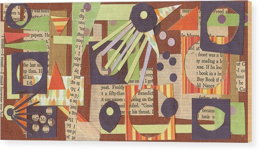 Louises Lash  Wood Print by Pegeen  Shean