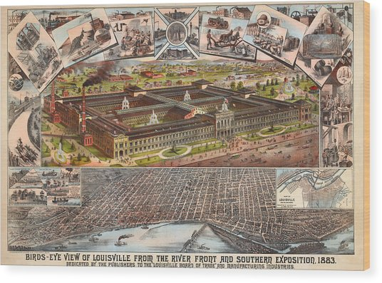 Louisville 1883 Wood Print by Donna Leach