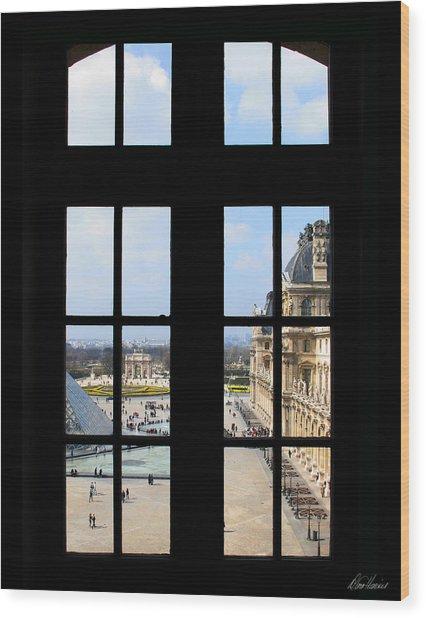 Louvre Window Wood Print