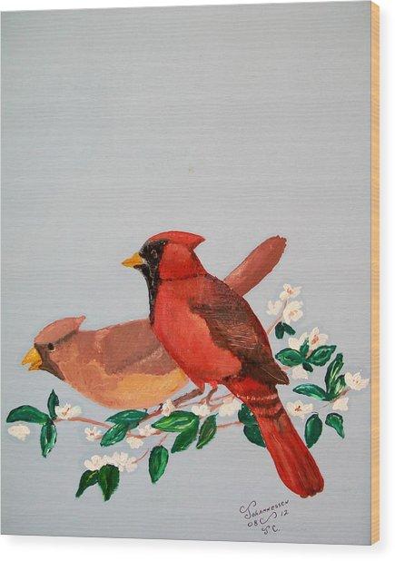 Love Blossems   Unframed Wood Print