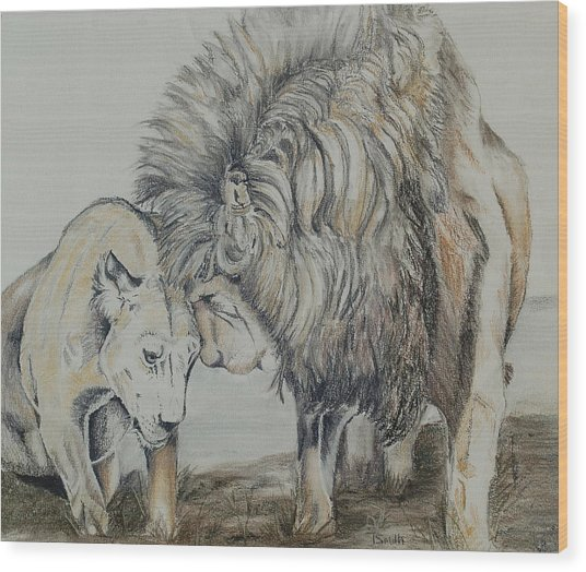 Love On The Plains Wood Print