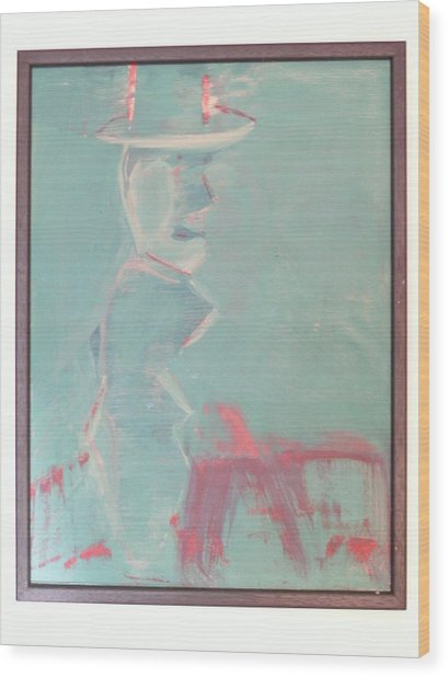 Lover With Hat On Fire  Wood Print by Harry  Nash
