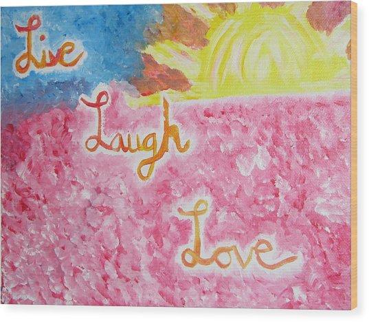 Loving Life Wood Print by Hannah Stedman