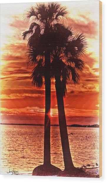 Loving Palms-the Journey Wood Print