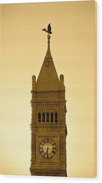 Lowell Clock Tower II Wood Print