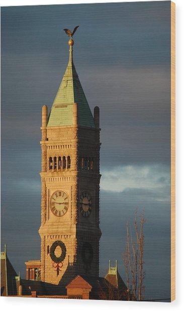 Lowell Clock Tower Wood Print