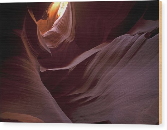 Lower Antelope Eleven Am On The Dot Wood Print by Gregory Scott