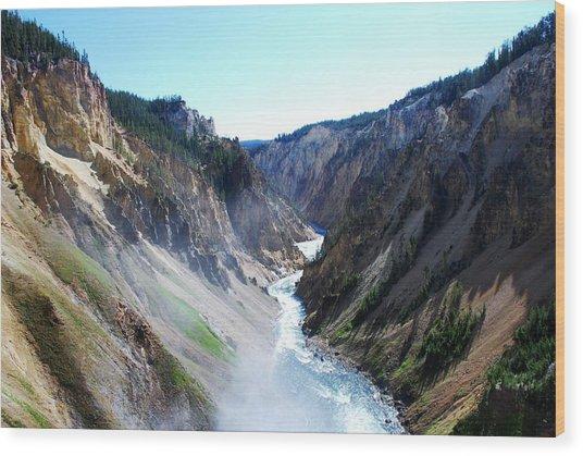 Lower Falls - Yellowstone Wood Print