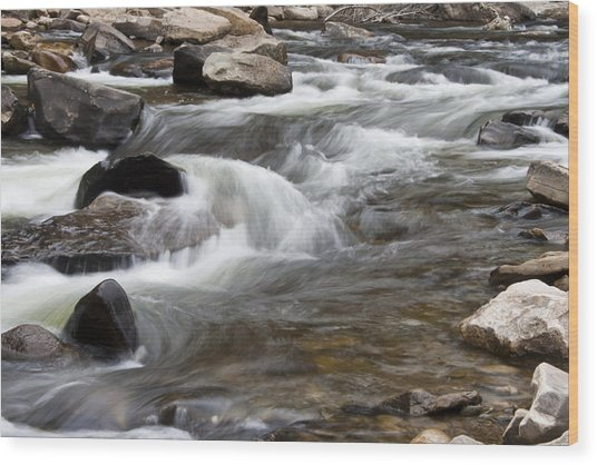 Loyalsock Creek Gentle Rapids Wood Print