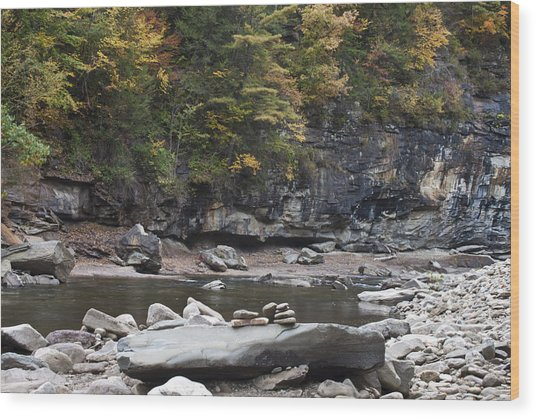 Loyalsock Creek In The Fall Wood Print
