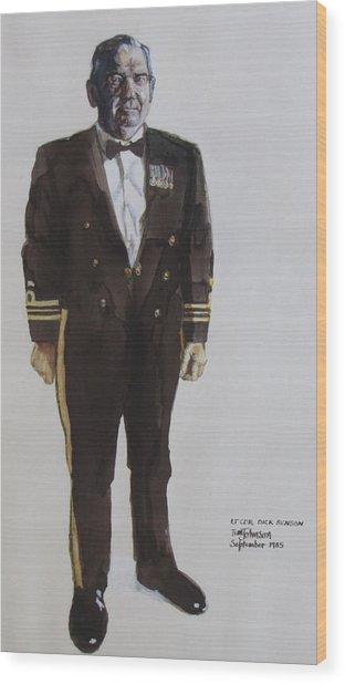 Lt Cdr Dick Benson Wood Print