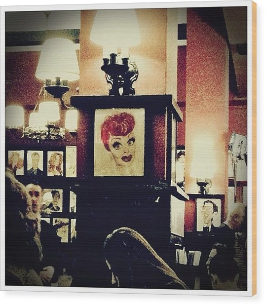 Lucille Ball Wood Print