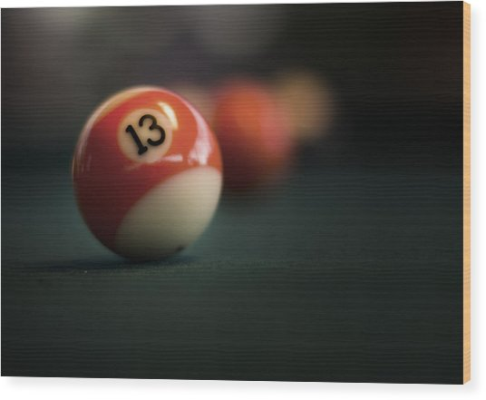 Lucky Number Wood Print