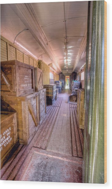 Luggage Car Wood Print