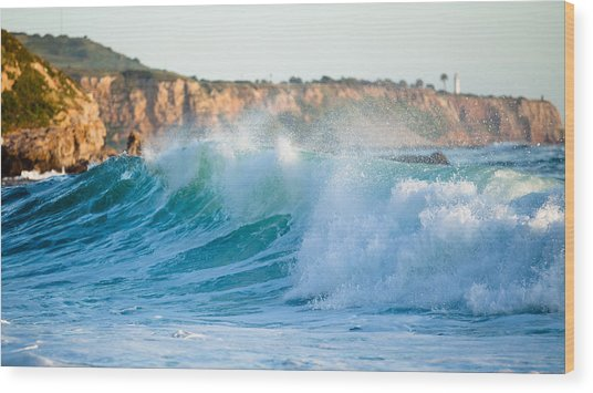 Lunada Bay Ocean Spray Wood Print
