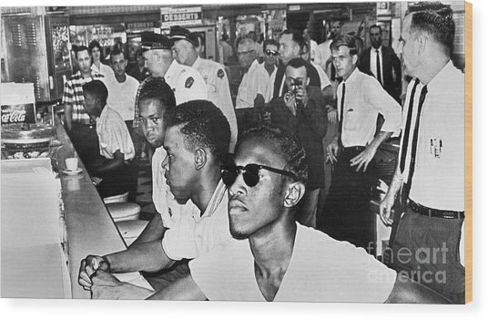 Lunch Counter Sit-in, 1961 Wood Print by Granger