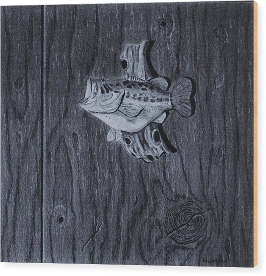 Lunker Wood Print by Brian Hustead
