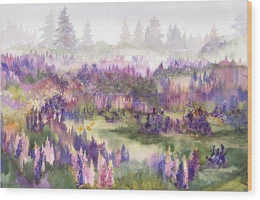 Lupines Galore Wood Print