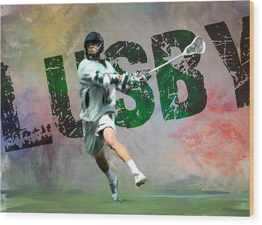 Lusby Lacrosse Wood Print by Scott Melby