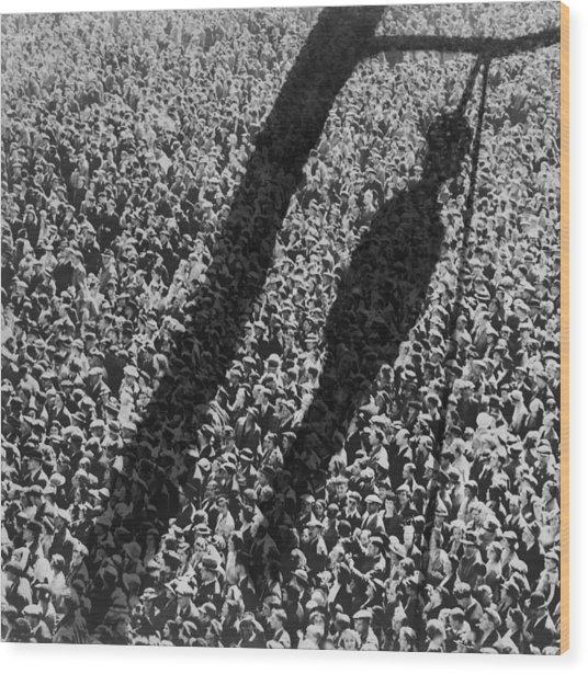 Lynching. The Shadow Of Lynching Wood Print by Everett