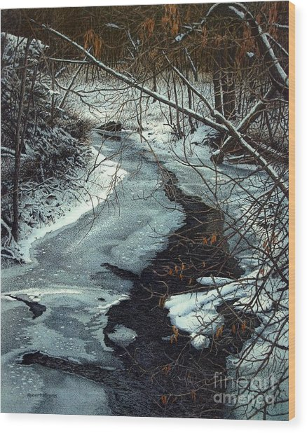 Lynde Creek Wood Print