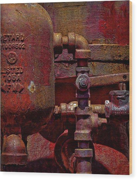 Machinery Grunge Wood Print