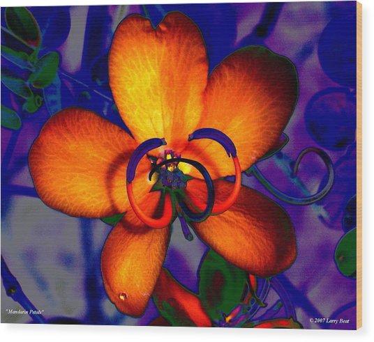 Madarin Petals Wood Print
