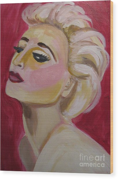 Madonna Red Hot Wood Print
