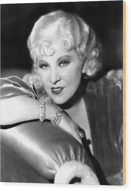 Mae West, Portrait Wood Print by Everett