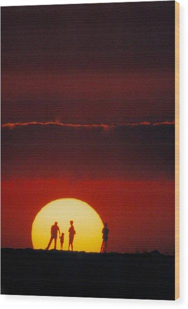 Magic Island Sunset Wood Print