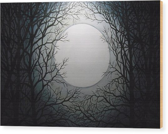Magic Moon Wood Print by Anne Thomassen