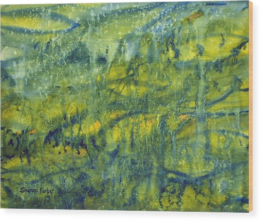 Magical Rainforest Wood Print by Sharon Farber
