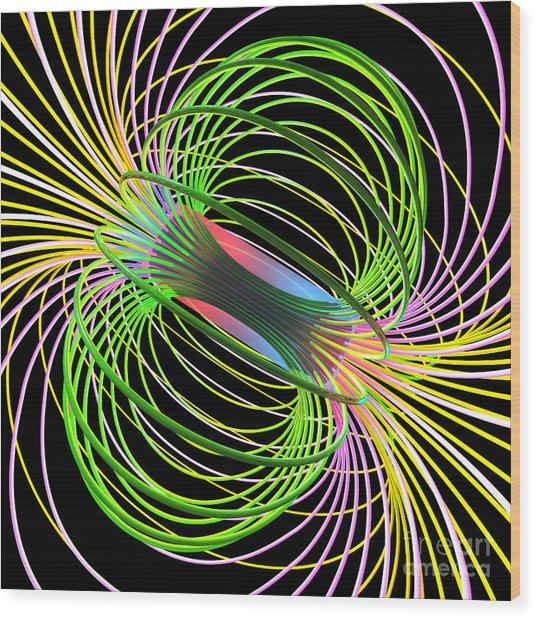 Magnetism 5 Wood Print