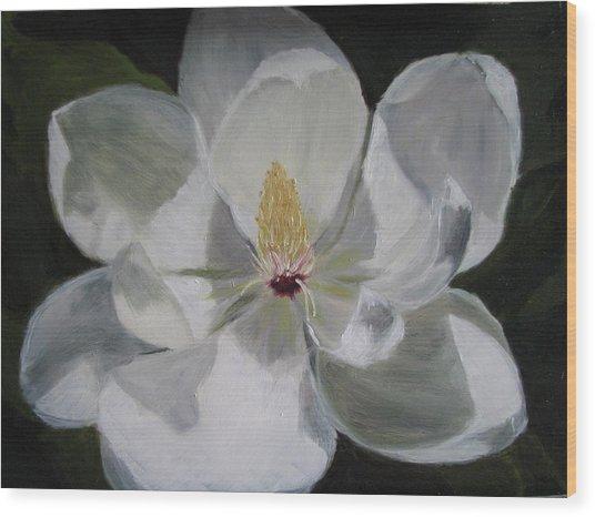 Magnolia Wood Print by Iris Nazario Dziadul