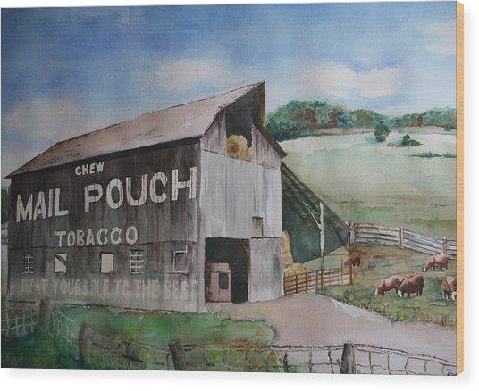 Mailpouch Wood Print by David Ignaszewski