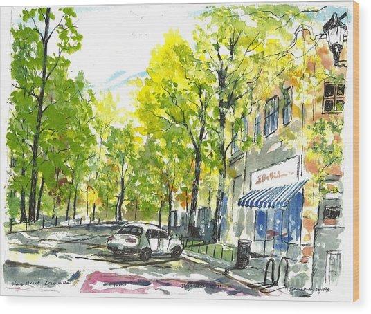 Main Street Greenville Spring Wood Print